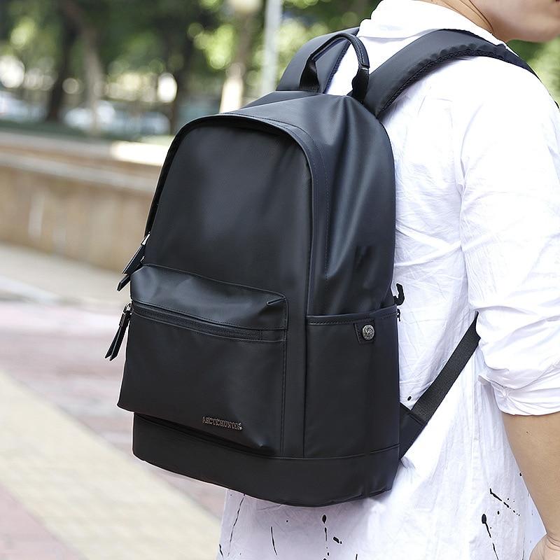 ARCTIC HUNTER 15.6 inch School Backpack Male Fashion Vintage Backpacks Men And Women Business Travel Waterproof Back pack Female