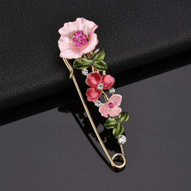 ZHIMO Fashion Classic Oil Painting Butterfly Tulip Brooch Pin Colorful Flower Brooches Women Coat Accessories