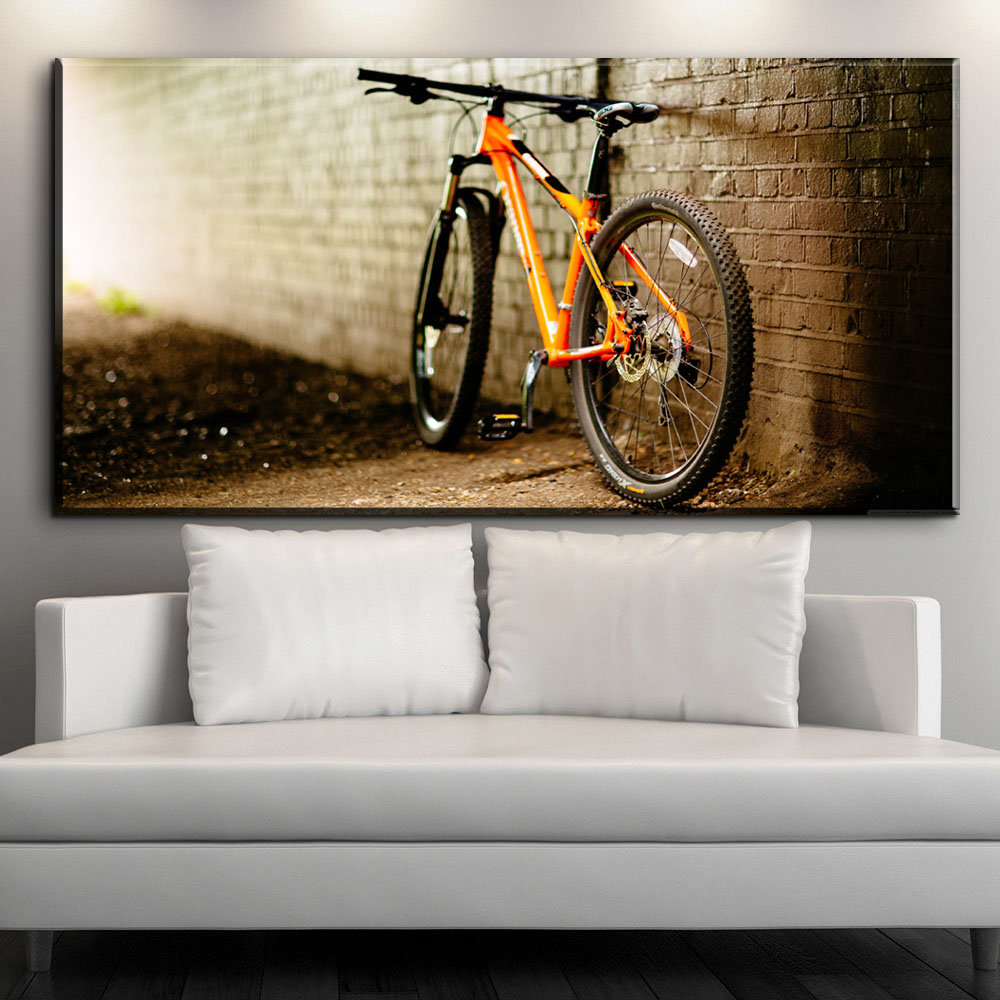 ZZ2114 Canvas Painting Vintage Home Decor Print sports Bike Canvas Oil Painting Wall Picture Living Room Wall Painting