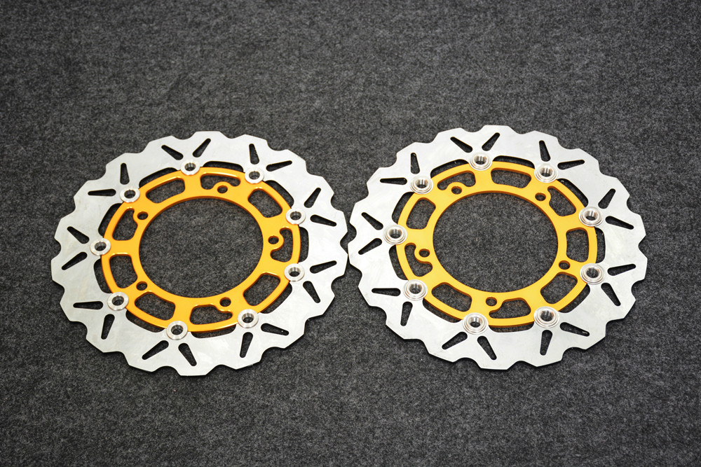 все цены на Motorcycle Front Brake Disc Rotors For suzuki SFV650 SV650 07-10 Correspondence year universal онлайн