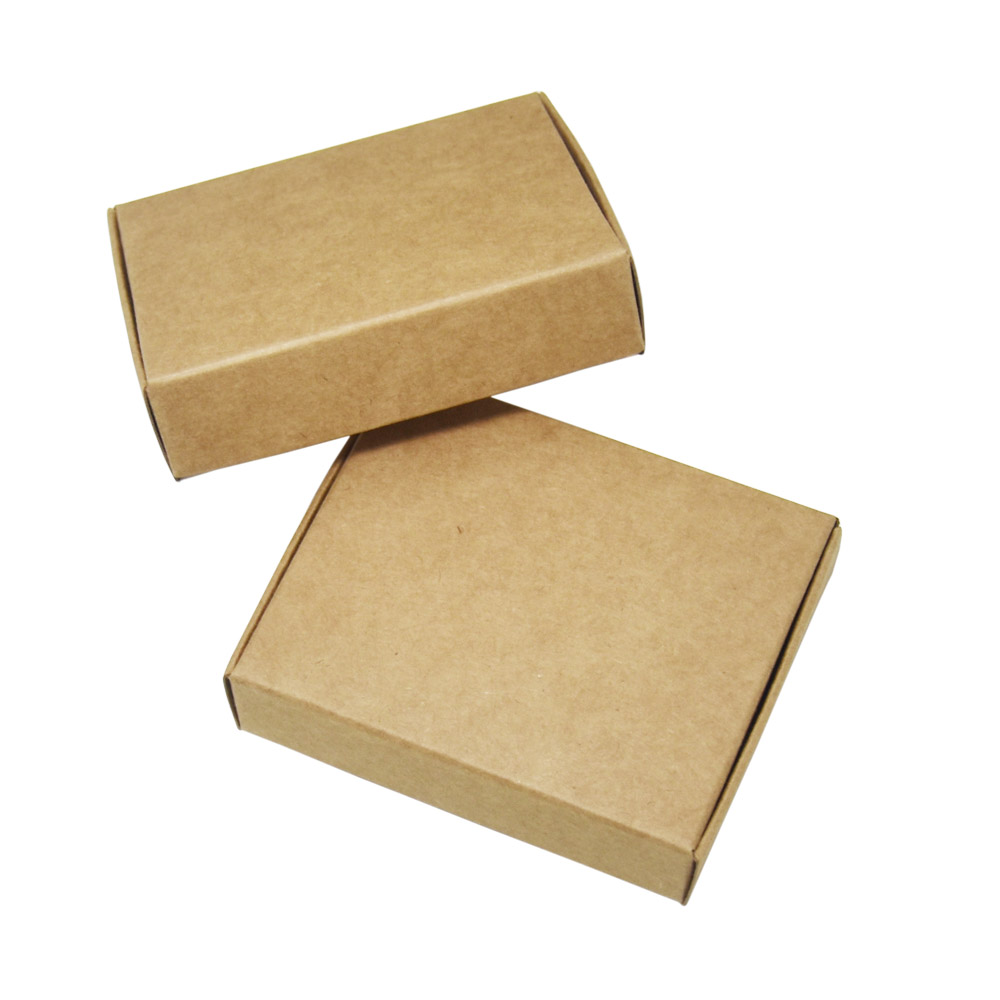 ef178311e4e 50 Pcs Brown Kraft Paper Boxes Wedding Christmas Favor Gift Box Jewelry  Handmade Soap Package Cardboard