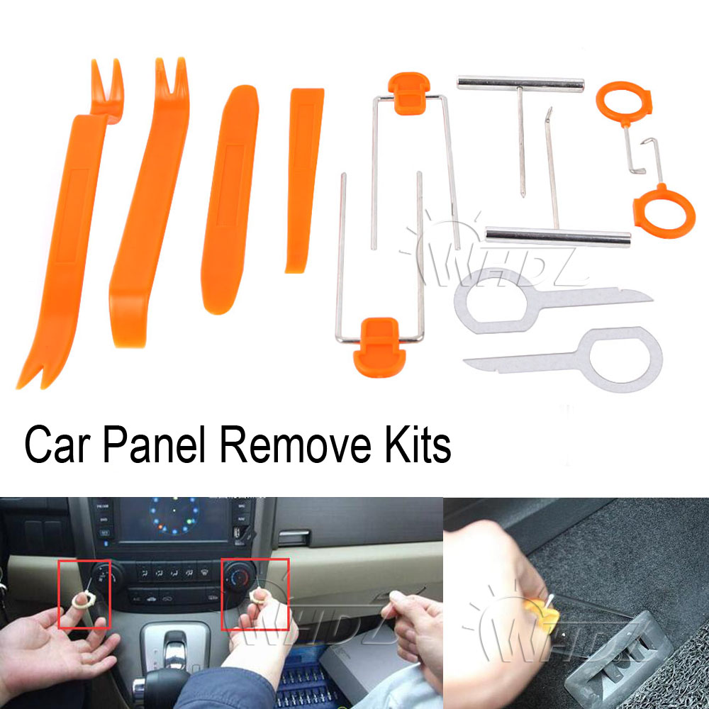 WHDZ 4/12Pcs Plastic Car Panel Remove Kits Auto Radio Door Clip Panel Trim Dash Audio Removal Installer Pry Tool Repairing Set 12pcs set car auto disassembled pry kit stereo refit interior panel molding clip auto removal tool