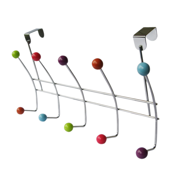 10 HOOK MULTI COLOUR OVER THE DOOR CLOTHES COAT HANGER RACK CHROME HANGERS In  Robe Hooks From Home Improvement On Aliexpress.com | Alibaba Group