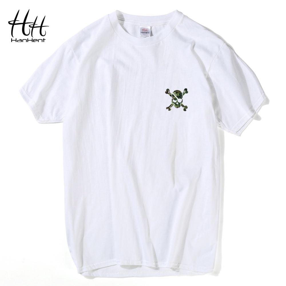 ca1ade4401ea2bb ᗑ】Hanhent 3D череп камуфляжная футболка Для мужчин высокое ...