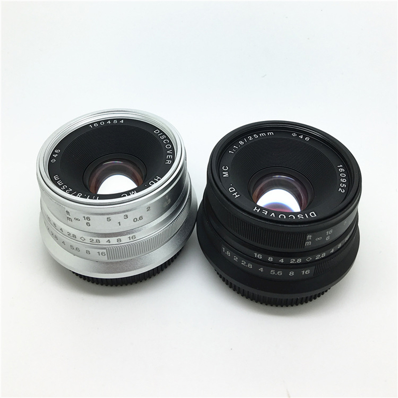 Black/Sliver 25mm F/1.8 HD MC Wide Angle Manual Focus Lens for Sony NEX E-mount Camera A7 A7RII A7SII A6500 A6300 A6000 NEX-7 free shipping new nex 7 camera repair and replacement parts nex7 motherboard for sony nex 7 mainboard nex 7 main board