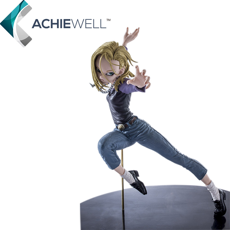 ACTOYS Anime Dragon Ball Z Android 18 Lazuli Battle Version Action Figure Cartoon Model Collection Plastic Toy For Kid Gift Doll dragon ball z action figure dragonball android 18 lazuli battle version toy figuras