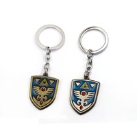 12pcs Game The Legend of Zelda Breath of the wild Keychain hylian shield Key Ring Chaveiro Alloy llaveros Trinket Key Chain