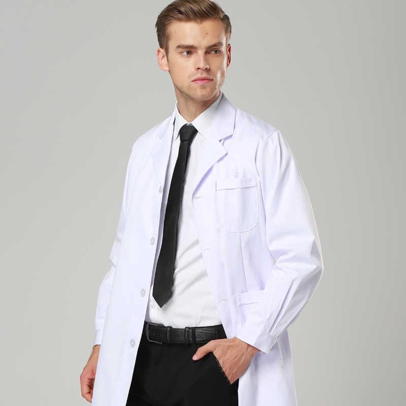 3b9e375ec18 Mens Lab Coat robe medical Hospital White medical gowns Women and Men Coat  Dentist Doctor Work