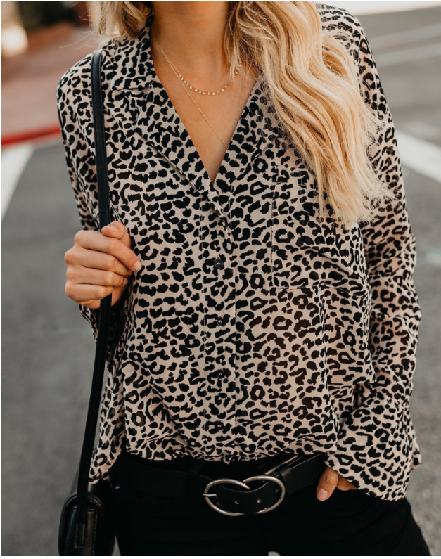 3XL Women Blouses Tops Leopard Polka Dot Chiffon Shirts V neck Flare Sleeve Shirt Girl Summer Fashion Tops Clothing Plus Size in Blouses amp Shirts from Women 39 s Clothing
