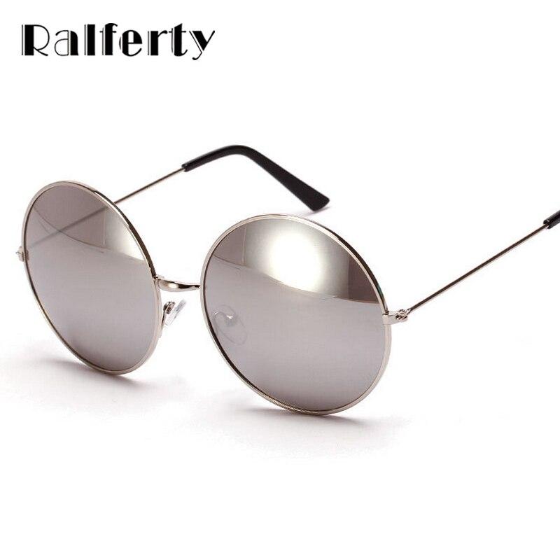 ralferty vintage ladies gafas de sol grandes redondas mujeres de gran tamao de marco de metal