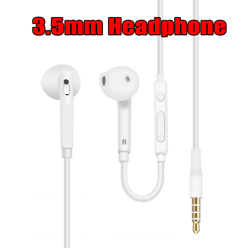 100 PCS Wholesale Brand New Wired In Ear Earphone 3 5mm Stereo Music Earphone with Volume