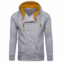 New Fashion Mens Sweater Men Zipper AutumnSolid Knitted Streetwear Men