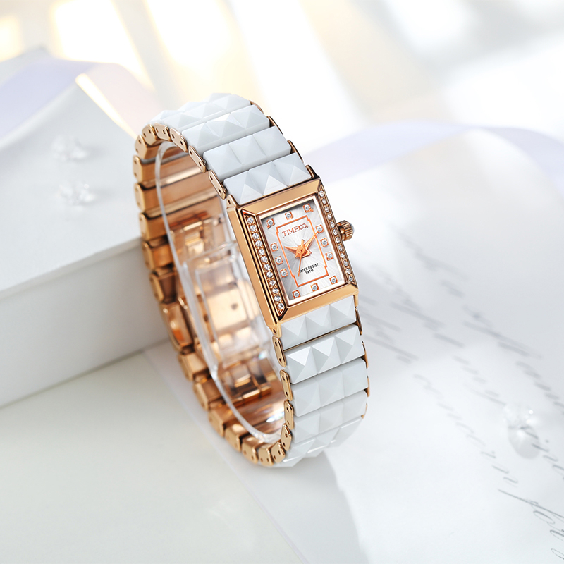 Time100 montres de luxe en céramique pour femmes montre à Quartz cadran diamant dames Bracelet décontracté montres pour femmes relogios feminino