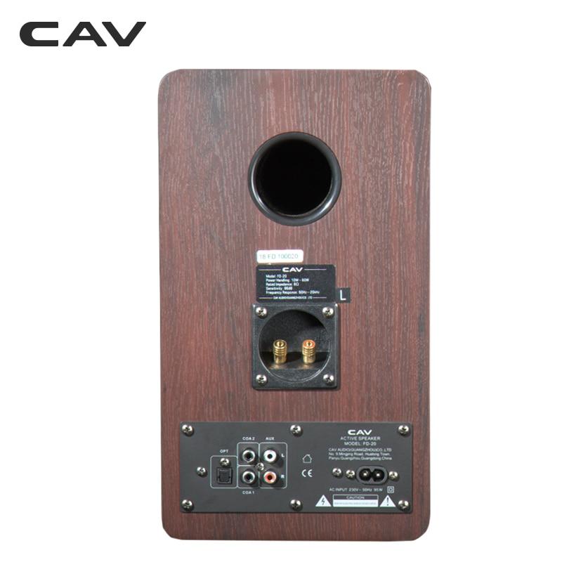 Cav Fd 20 Bookshelf Speaker 2 0 Bluetooth Speaker Sound System Wood Music Speakers For Computer Column Soundbar 5 25inch Newest
