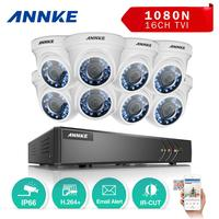 ANNKE 16 Channel Security Camera System HD TVI 1080N Video DVR and 8pcs 2.0MP Indoor/Outdoor Weatherproof Cameras CCTV Kit