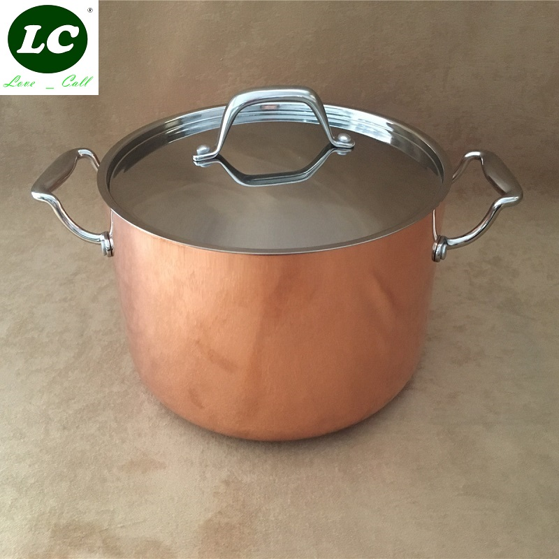 Cookware Casserole 5500ml Stainless Steel ᗑ Copper Copper