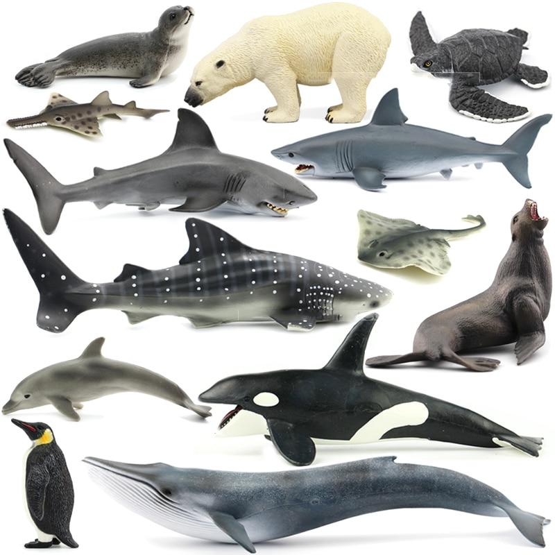 Original Animal Toys Ocean Sea Animals Bule Whale Shark