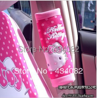 2pcs Set Hello Kitty Car Accessories Car Seat Safety Belt Covers Safe Belt Cover For Lada