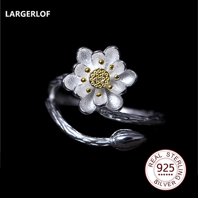 LARGERLOF 925 Anelli D'argento Per Le Donne gli Anelli di Nozze 2017 Donne di Modo Squilla JZ12002