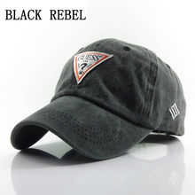 ad2310f10b7cd Black Rebel 100% Denim Baseball cap Snapback Hats Autumn Summer Hat for Men  Women Caps Casquette hats Letter Embroidery Gorras