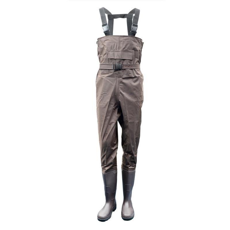 Pantalons respirants pour hommes en plein air avec bottes antidérapantes combinaison en Nylon imperméable Wading pour pêche Camping salopette A70501