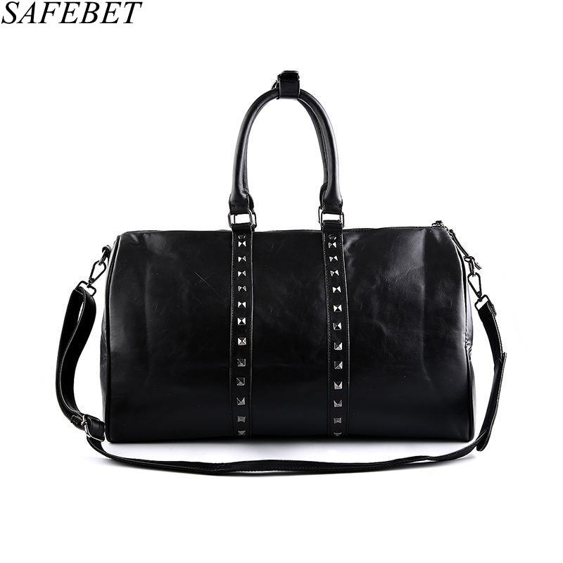 цены SAFEBET Brand High Quality PU Leather Handbags For Men Large-Capacity Portable Shoulder Bags Men's Fashion Travel Bags Package