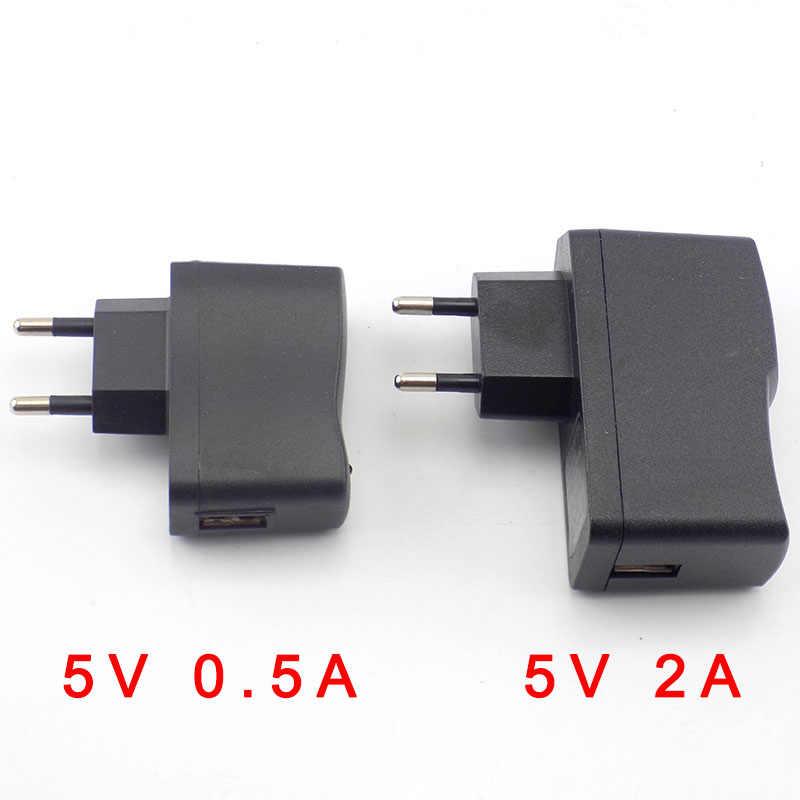 5V CC 0.5A 500mA CA a CC micro USB adaptador de corriente fuente US UE puerto de carga 100V 240V convertidor cargador para lámpara de tira LED