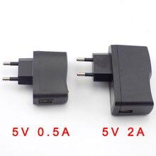 Adaptador de alimentação micro usb, fonte de alimentação dc 5v 0.5a 500ma ac para dc 100v 240v conversor carregador para lâmpada de tira led