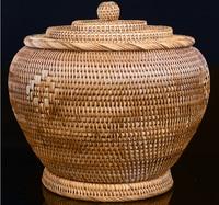 2017Vietnam mould proof autumn cane caddy puer tea cake box tea basket