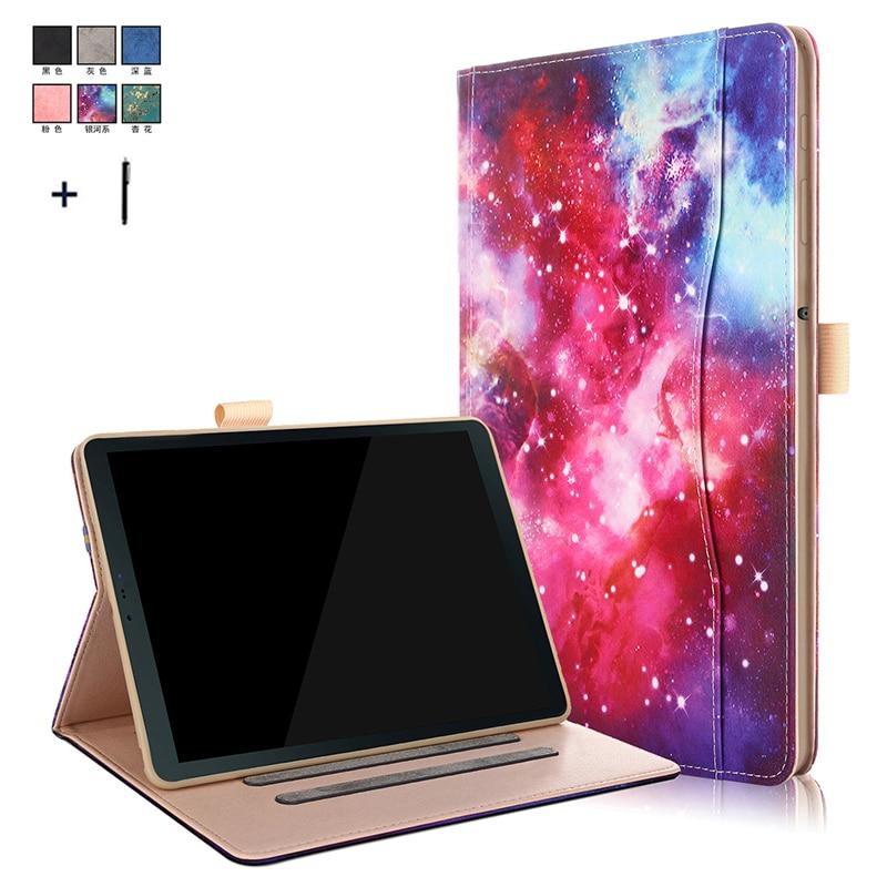Smart Flip Stand Leder Abdeckung Fall Für Samsung Galaxy Tab S4 10,5 ''t830 T835 T837 Rahmen Hand Strap Karte Slot Funda Stylus