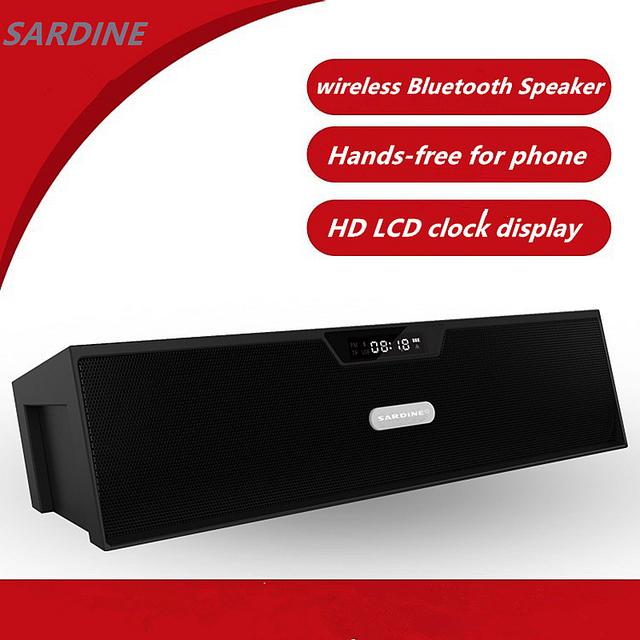 SDY-019 Sardina Original wireless Bluetooth Altavoz Portátil 10 w USB Amplificador Estéreo de ALTA FIDELIDAD de Sonido Caja con Radio FM mic