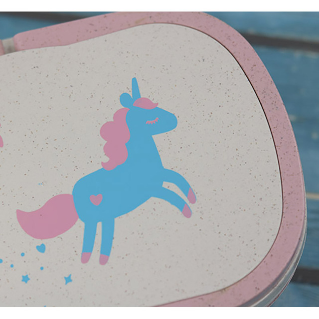 Cute Unicorn Printed Leakproof Eco-Friendly Lunch Box