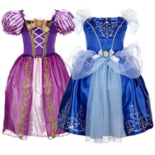 Girls Princess Fashion Dress Cinderella Snow White Dresses Baby Party Birthday Vestido Children Cosplay Costume Clothing