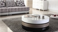 Tea Table Coffee Table Modern Table MDF Specular Paint Stainless Steel Bracket Rotate With Storage Creative
