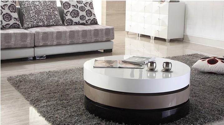 Tea Table / Coffee Table, Modern Table, MDF+Specular Paint Stainless Steel  Bracket, Rotate, With Storage Creative Table 804A In Coffee Tables From  Furniture ...