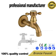 Antique faucet for mop pool and made of brass Wall-mounted faucet Sanitary bath hardware цена 2017