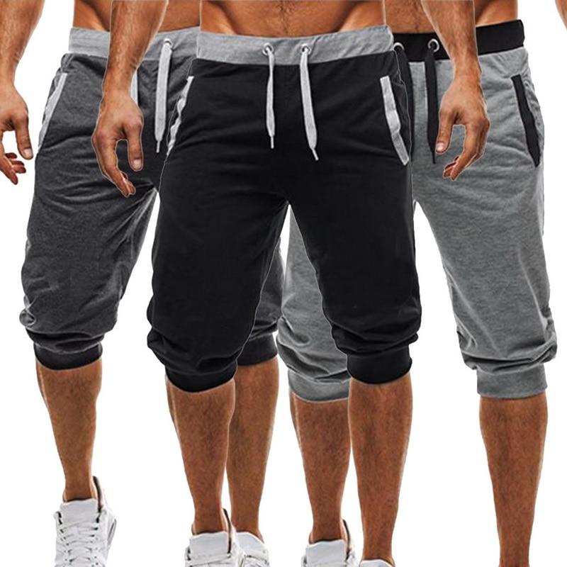 CYSINCOS 2019 New Mens Jogger Casual Slim Harem Shorts Soft 3/4 Trousers Fashion New Brand Men Sweatpants Summer Comfy Shorts