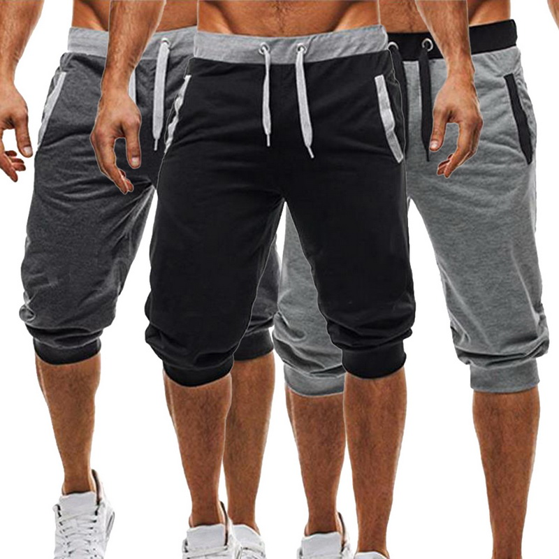 CYSINCOS 2019 New Mens Jogger Casual Slim Harem   Shorts   Soft 3/4 Trousers Fashion New Brand Men Sweatpants Summer Comfy   Shorts