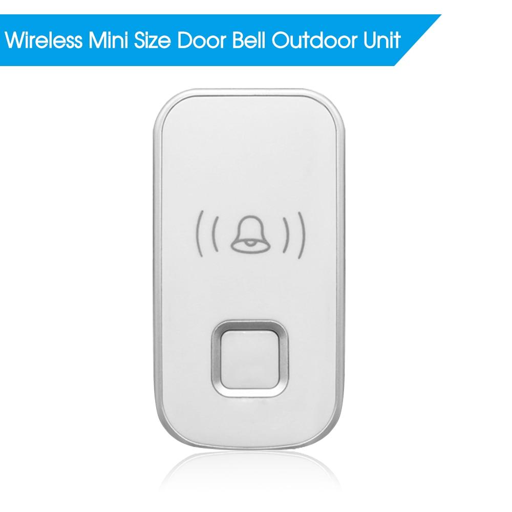 Wireless Mini Size Door Bell Outdoor Push Button Ip55 Waterproof Doorbell Elegant Design Sensitive Transmission Superior Performance Door Intercom