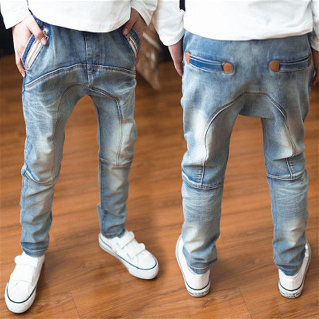 d3aa5b05a1 US $10.92 9% OFF|Best sell Spring and Autumn the Children 's Jeans, famous  designer stitching Jeans boy's Casual Jeans Jeans boy for 2 to 14 year-in  ...