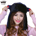 Top Winter Women Bomber Hats Character Caps Outdoor Ski Sport Women Bomber HatNifty Lovely Earcap Warm Caps Lining Cotton  Hats