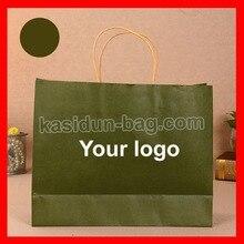 (500 шт./лот) размер W42xH31xD13cm большой размер крафт-бумажный мешок с вашим логотипом печати