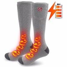 Зимние спортивные носки 2,4 V, подарок на год, теплые гольфы, теплые хлопковые носки с электроподогревом