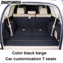 Ajuste personalizado mat mala do carro para Toyota land cruiser prado 150 à prova d' água anti pular 5 assentos/7 assentos de carro Anti sujo styling
