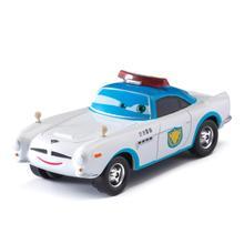 Coche de la policía blanca de los coches de Disney Pixar Lightning McQueen Mater Jackson Storm Ramírez 1:55 modelo de aleación de Metal para niños