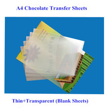 50sheets/bag A4 Size Chocolate Transfer Sheet Thin Blank Transparent Edible Glutinous Rice Paper For Cake Edible Ink Printing
