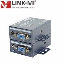 LINK-MI LM-101TRS Alta Qualidade Adaptive 100 m sobre CAT5/5e/6 cabo VGA Extensor de 3.5mm de Áudio Estéreo 15-pin HD conector fêmea