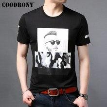 COODRONY T Shirt Men 2019 Summer New Arrival Casual Streetwear 3D Pattern Tshirt Short Sleeve T-Shirt Tee Homme S95084