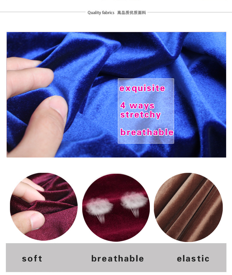 Silk Velvet Fabric Velour Fabric Pleuche Fabric Clothing Fabric Evening Dress Sports Wear 60 quot Sold By The Yard Free Shipping in Fabric from Home amp Garden