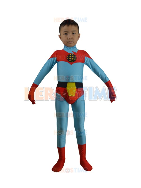 Free Shipping Kids Captain Planet Costume Lycra Spandex Zentai Children Superhero Cosplay Party Costume